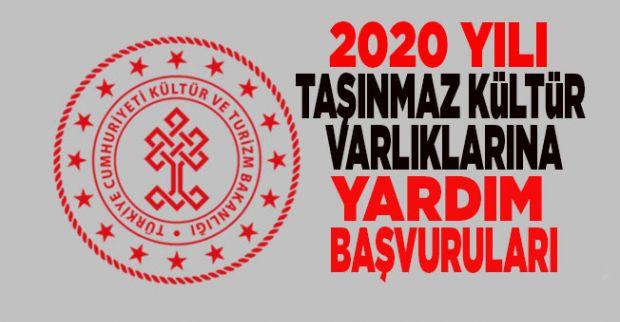 2020 YILI TAŞINMAZ KÜLTÜR VARLIKLARINA  YARDIM BAŞVURULARI BAŞLADI