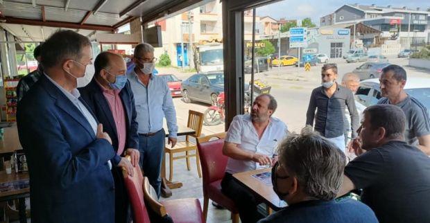 AK Parti Milletvekili İlyas Şeker Gölcük'te incelemelerde bulundu