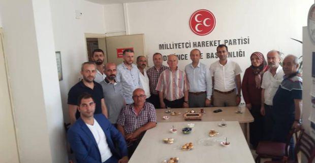 AK Partiden MHP'de teşekkür ziyareti
