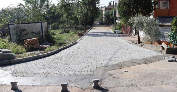 Alikahya Fatih Mahallesi'nde parke yol çalışması tamamlandı