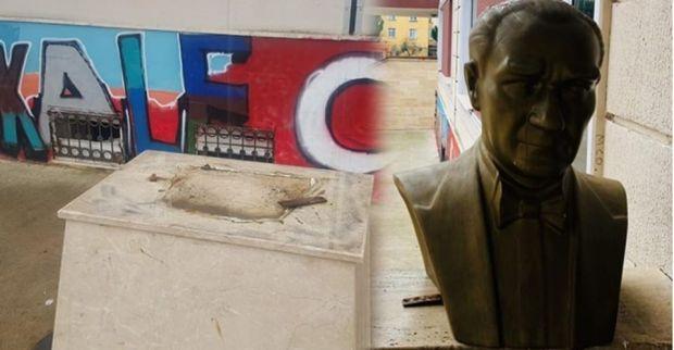 Atatürk Büstüne Yönelik Alçak Saldırıyı Kınıyoruz