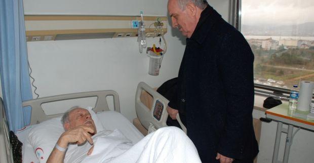 Aygün'den ameliyat olan ağabeyine ziyaret