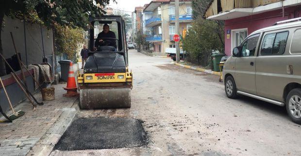 Barbaros'ta dört noktaya asfalt