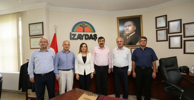Başkan Aygün'den İZAYDAŞ'a Ziyaret