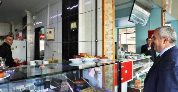 Başkan Baran'dan  esnafa 'çat-kapı'