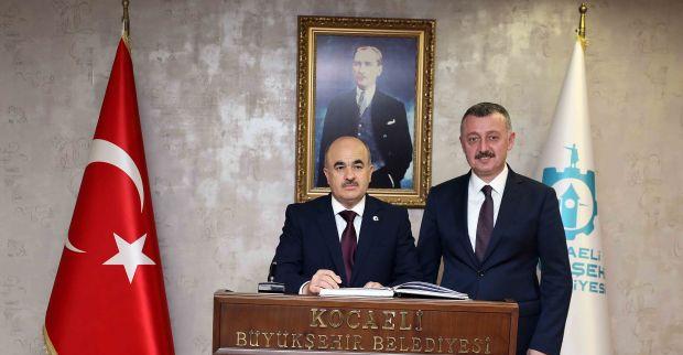 Başkan Büyükakın, Düzce Valisi Dağlı'yı konuk etti