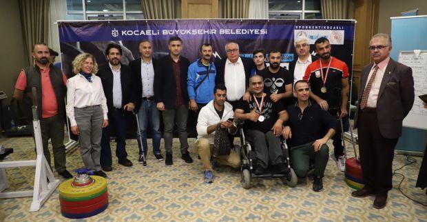Bedensel Engelliler Halter Türkiye Şampiyonası Kocaeli'de yapıldı