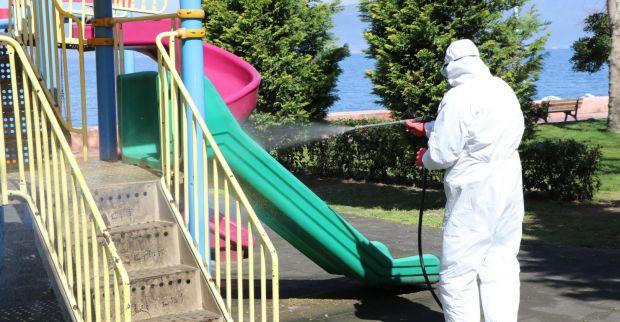 Büyükşehir dezenfekte çalışmaları aralıksız sürüyor