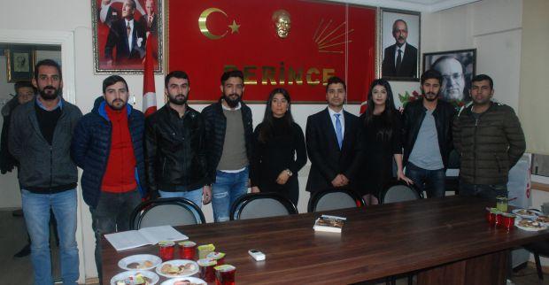 CHP Derince Gençlik kollarında yeni Başkan Erdal Fener