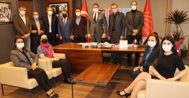CHP'li Sarıbal, Başkan Yıldızlı ve yönetimini ziyaret etti