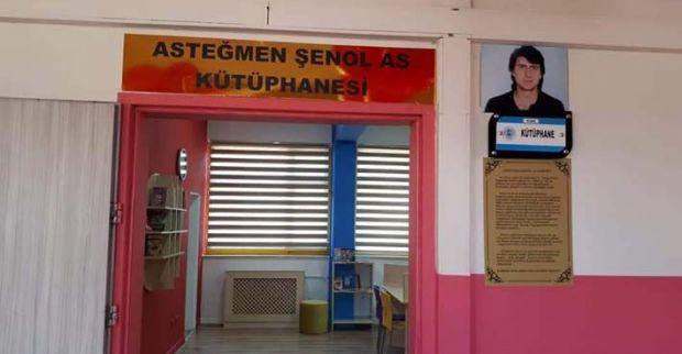 Cumhuriyet İlköğretim okulunda Asteğmen Şenol AS kütüphanesi  açıldı