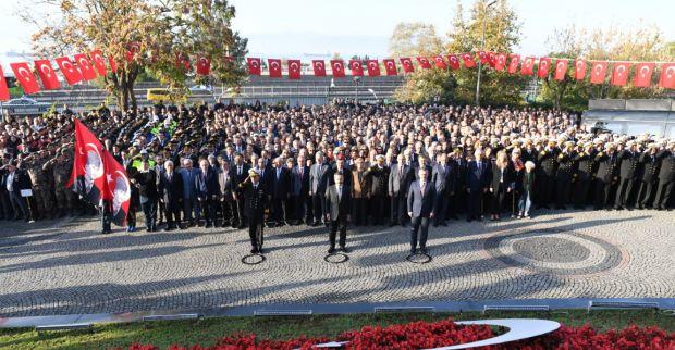 Cumhuriyetimizin Kurucusu Gazi Mustafa Kemal Atatürk'ün Aramızdan Ayrılışının 81. Yıldönümü Anma Programları Çelenk Sunma Töreni İle Başladı