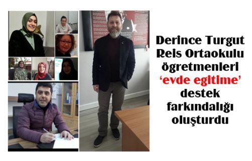 Derince Turgut Reis Ortaokulu ögretmenleri evde egitime destek farkındalığı oluşturdu
