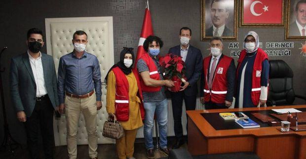 Derince Türk Kızılay 'dan Koray Merdan'a Ziyaret