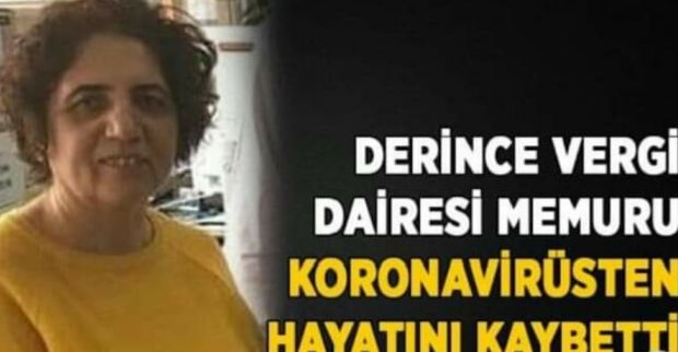 Derince Vergi Dairesi memuru koronavirüsten hayatını kaybetti