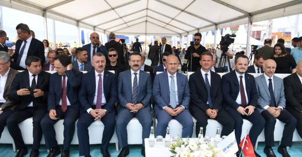 DP World Yarımca Liman İşletmesi Demiryolu Hattı Açılış Töreni  Bakan Turhan'ın  Katılımıyla Gerçekleştirildi