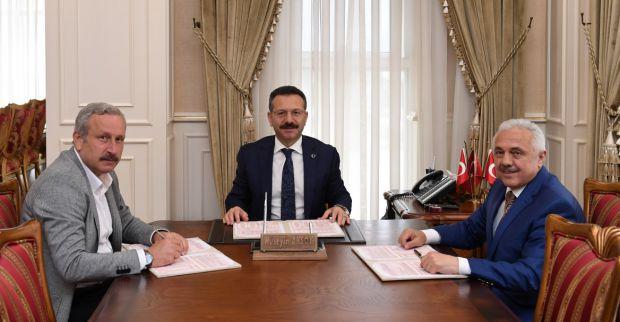 """EĞİTİM KAMPÜSÜ""""NÜN  PROTOKOLÜ, İMZALANDI."""