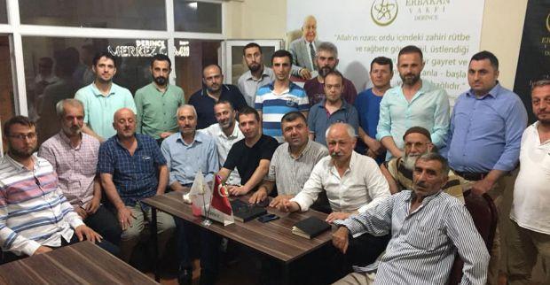 Erbakan Vakfı Derince Şubesi  toplantı yaptı