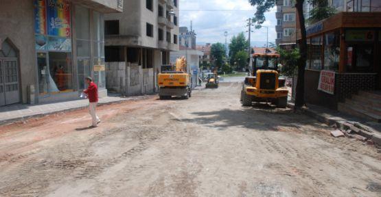 Fevzi Çakmak caddesinde üst yapı yenileniyor