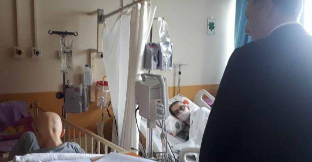 Gürkan için hastaneye koştu