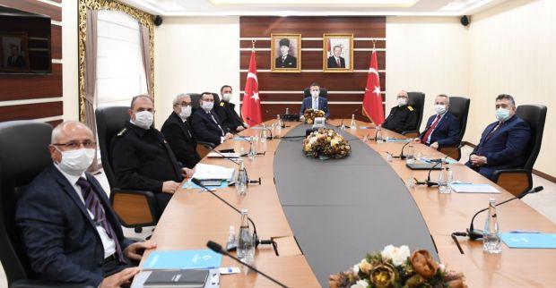 İl Güvenlik ve Asayiş Koordinasyon Toplantısı, Sayın Valimizin Başkanlığında Gerçekleştirildi