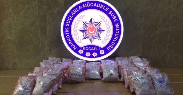 İran'dan gelen uyuşturucu Kocaeli'de yakalandı