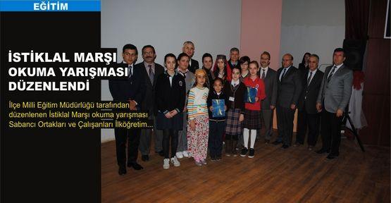 İstiklal Marşı okuma yarışması düzenlendi