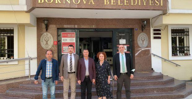 İzmit Belediyesi yöneticilerinden Bornova Belediyesi'ne ziyaret