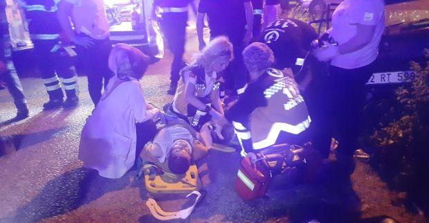 Kandıra yolunda feci kaza: 1 ölü 3 yaralı