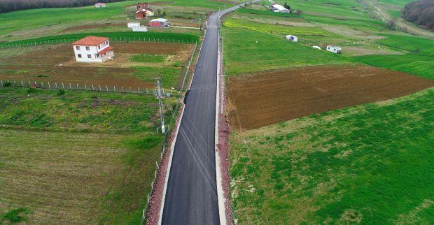 Kandıra'nın 11 köyüne 18 km yol yapımı
