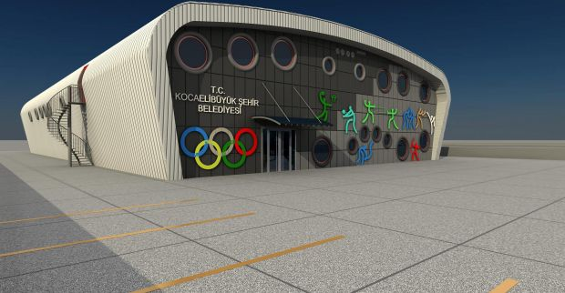 Kartepe İHL Spor Salonu'nun çevre imalatı başladı