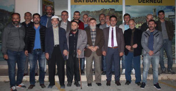 Kocaeli MHP İl Başkanlığın dan Derince Bayburtlular Derneğine Ziyaret