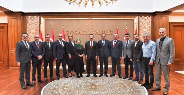 Kocaeli Trabzonlular Dernek Başkanı ve Yeni Yönetiminden Sayın Valimize Ziyaret