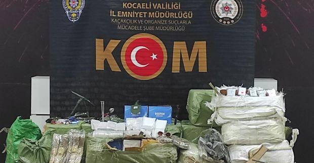 Kocaeli'de binlerce kaçak ürün ele geçirildi