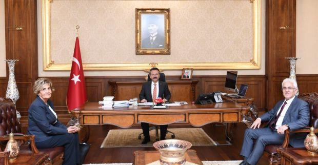 Kuzey Marmara Otoyolu Genel Müdürü ve Anadolu Otoyolu İşletme Müdürü Sayın Valimizi Ziyaret Etti