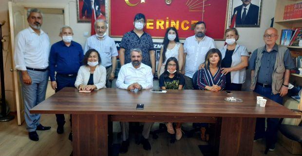 Leyla Serin Kırık CHP'yi ziyaret etti