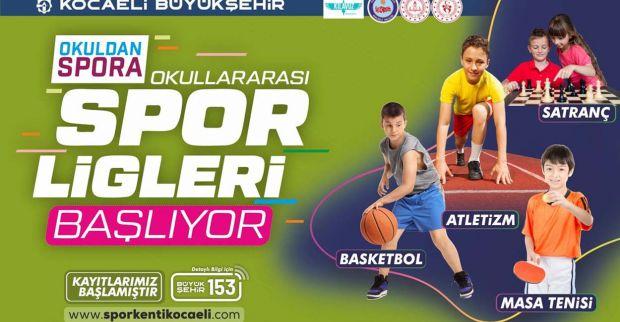 Okullar arası spor ligleri başlıyor