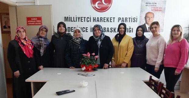 Saadet Partisi Derince İlçe Kadın Kolları 'ndan Derince İlçe MHP Kadın Kolları'na ziyaret
