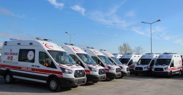 Sağlık Bakanlığı Tarafından Kocaeli' ye 8 Adet Tam Donanımlı Ambulans