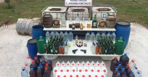 Sahte içki imalathanesine operasyon 3 gözaltı
