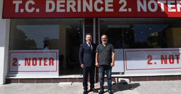 Sayın Valimiz Derince 2. Noteri Mustafa Uçanoğlu'na İade-İ Ziyarette Bulundu.