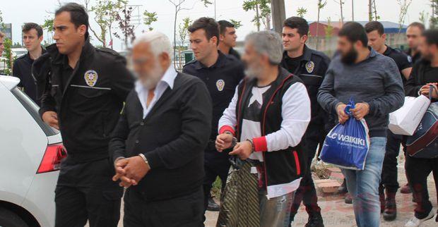 Tefeciler adliyeye sevk edildi 7 kişi tutuklandı