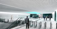 Metro hattında istasyon çalışmaları...