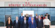 VALİ AKSOY'DAN KÖRFEZ'E İADE-İ ZİYARET...