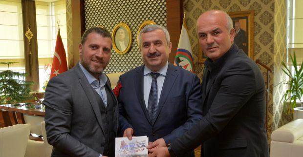Trabzonlulardan  Başkan Baran'a davet