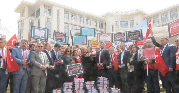 Türk Sağlık Sen eylem yaptı