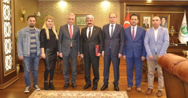 TÜRK SAĞLIK SEN  HEYET'İ REKTÖR'Ü ZİYARET ETTİ.