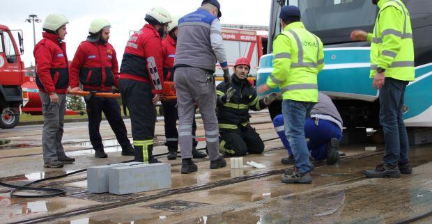 Ulaşımpark'tan Akçaray kazası tatbikatı
