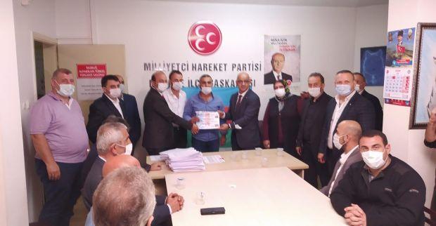 Ünlü'den MHP Derince  İlçe Teşkilatına ziyaret