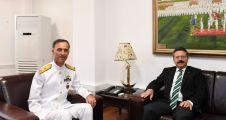 Vali Aksoy'dan Deniz Eğitim - Öğretim Ve Garnizon Komutanı'na İade-İ Ziyaret